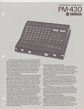 #MISC-0112 - 1970s YAMAHA PM-430 SOUND MIXER SPECIFICATION INSTRUCTION  MANUAL