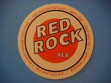 Beer Coaster Mat <:> TRIPLE 3 ROCK Brewery Red Rock Ale ~*~ Berkeley, CALIFORNIA