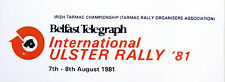 1981 International Ulster Rally / Race / Motorsport Sticker Decal