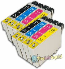 8 Ink Cartridges for Epson Stylus (non-oem) Replaces T0711-4/T0715 Cheetah Inks