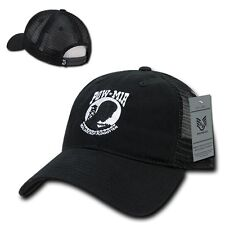 Prisoner of War Missing In Action POW MIA Trucker Mesh Low Crown Baseball Cap