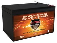 VMAX64 12V 15Ah Zip'r 4 Xtra Hybrid Traveler AGM SLA Battery Upgrades 12ah