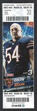 2012 NFL COLTS @ BEARS FULL UNUSED FOOTBALL TICKET - ANDREW LUCK FIRST GAME