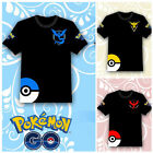 Pokemon Go Team Valor Team Mystic Team Instinct Pokeball Nerd Anime T-Shirt Tops