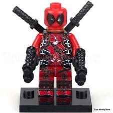 Custom Deadpool Movie Minifig Superhero fits with Lego xh193 UK Seller