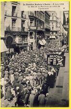 cpa 44 NANTES BRADERIE 1932 BROCANTE MARCHÉ aux PUCES Rue de la BARILLERIE Animé