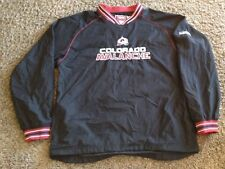 """COLORADO AVALANCHE PULLOVER   FACE-OFF   HOCKEY JACKET BY CCM / NHL  MEN""""S LARGE"""