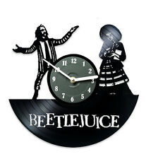 Kitchen Wall Clock Present for Friend Décor Record Clock Movie Beetlejuice