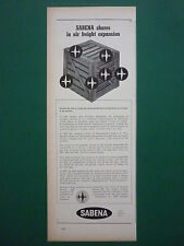 11/1959 PUB COMPAGNIE BELGE SABENA BELGIAN WORLD AIRLINES AIR FREIGHT CARGO AD