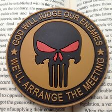 """THE PUNISHER """" GOD WILL JUDGE OUR ENEMIES """" PVC TACTICAL ARMY PATCH"""