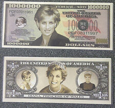 One Million Dollars Diana, Princess Of Wales - Novelty Money