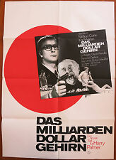 BILLION DOLLAR BRAIN (1967) Original German Movie Poster MICHAEL CAINE
