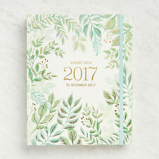 Paper Source - 2016-17 - 18 month Agenda - Greenery - Hidden Spiral Planner