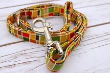 DESIGNER DOG PUPPY LEAD - GEO SQUARES - TO MATCH COLLAR
