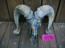 TAXIDERMY Camo Dip CORSICIAN RAM SHEEP SKULL BIG HORNS LOG CABIN LODGE DECOR#270