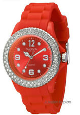 Madison New York   U4101S5 Juicy Glamour Damenuhr Silikon Mädchenuhr rot neu