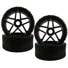 4PCS 17mm HEX Tyre RC 1/8 On-Road Car Buggy Foam Rubber Tires Wheel Rims 85B-803
