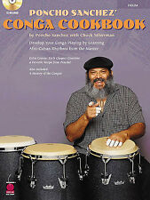 Poncho Sanchez Congo Cookbook Learn to Play Latin Congas Drums Music Book & CD