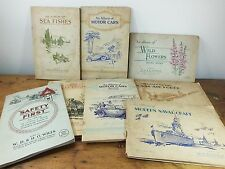 8 job lot complete cigarette card books albums cars railway safety naval air