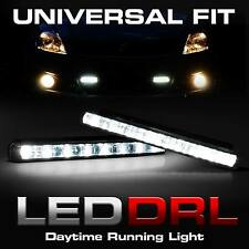 2x Universal Fit Car White LED for Daytime Running Light DRL Fog Driving Lamp 12