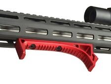 Strike Industries Link Curved Grip Red KeyMod/M-LOK Angled Foregrip 5.56/223