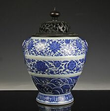 ANTIQUE CHINESE BLUE AND WHITE PORCELAIN VASE - DAOGUANG MARK AND PERIOD