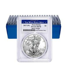 Lot of 20 - 2017-W 1 oz Silver American Eagle $1 Coin PCGS MS 70 First Strike