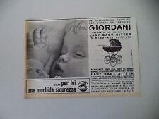 advertising Pubblicità 1965 PASSEGGINO CARROZZINA GIORDANI LADY BABY SITTER