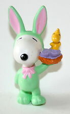 Vtg Peanuts Gang Snoopy Whitmans Candy Easter Bunny Figure Plastic PVC NEW NOS