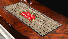 PERSONALISED BEER LABEL WOOD EFFECT BAR RUNNER IDEAL FOR HOME PARTY PUB BEER