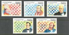 CHESS CHAMPIONS ON CAMBODIA 1994 Scott 1385-1389, MNH