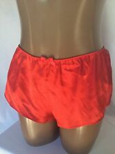 L Victoria's Secret Sexy Satin Red Chantilly Lace Lounge Sleep Shorts Large