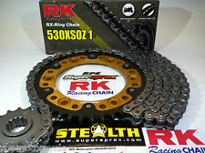 HONDA '98/05 VTR1000 SUPERHAWK RK X-Ring 530 SUPERSPROX  CHAIN AND SPROCKETS KIT