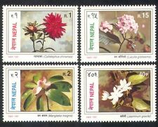 Nepal 1997 Jasmine/Aster/Lotus/Flowers/Plants/Nature/Conservation 4v set n38821