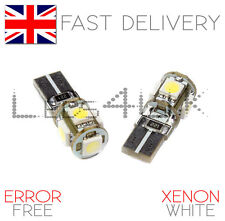 Vauxhall Astra H VXR 05-10 ICE White LED CANBUS 501 Side Light Bulbs 5 SMD Xenon