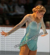Ice / Figure skating dress.new Competition turquoise Rhythmic Gymnastics custom