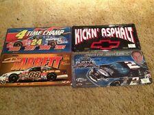 Dale Jarrett Jeff Gordon rusty Wallace  Metal License Plates 4 in all. NICE!!