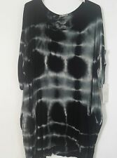 New Italian lagenlook Ladies Tie Tye Dye  tunic top 18 20 22 24 quirky plus size