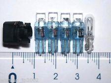 10pcs 74 37 T5 Instrument Panel Flat LED Bulbs (Blue)