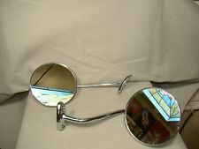 51 52 53 54 55 first ed chevy GMC truck chrome set left right mirrors & bracets
