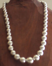 Women's Silver Tone Pearl Necklace and Earring Set by Kim Rogers Sensitive Ears