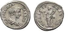 Ancient Rome Geta (AD 198-209) AR denarius FELICITAS CADUCEUS CORNUCOPIA