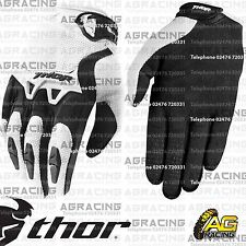 Thor Spectrum Gloves White Black Youth Kids Children Large Motocross Enduro Quad