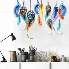 Peacock Feather Colorful designed living room bedroom decor wall decal stickers