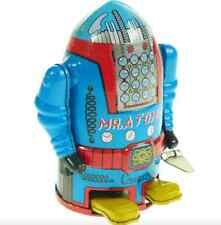 MR ATOMIC TIN TOY ROBOT WIND-UP CLOCKWORK CLASSIC TOY COLLECTABLE TIN TOY