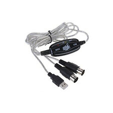 MIDI To USB Cable Convert Adapter Fr Music Keyboard Electronic Drum Music Create