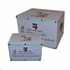 What Are Little Boys Made of Design Keepsake Boxes Set.