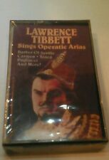 LAWRENCE TIBBETT - SINGS OPERATIC ARIAS, 1986 RCA, CASSETTE TAPE, NEW, SEALED!!!