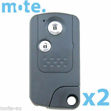2 x Honda CRV 2 Button Key Remote Replacement Case/Shell/Blank
