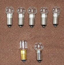 5 New C6 longshank 15V/5W replacement bulbs Noma bubble lights/Matchless star